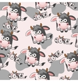 Seamless pattern square cartoon Cow vector image vector image