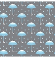 seamless pattern with umbrellas vector image vector image