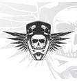 skull biker with full face helmet moto sports vector image