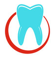 snow white tooth icon flat style vector image