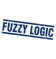 square grunge blue fuzzy logic stamp vector image vector image