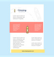 template layout for pencil comany profile annual vector image