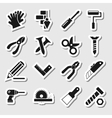 Tools Icons as Labels Vol 2 vector image vector image