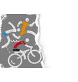 triathlon race icons on grunge stylized paper vector image vector image
