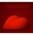 Valentines Day background with large red heart vector image vector image