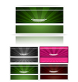 Victorian business cards set vector image vector image