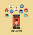 viral content mobile phone video people vector image vector image