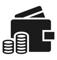 wallet money icon simple style vector image vector image