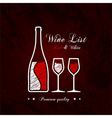 Wine list designs vector image