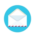 Icon of open new mail envelope White envelope on vector image