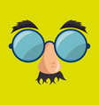 idiot mask crazy icon vector image