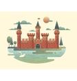 Castle design flat vector image