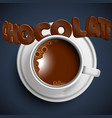 a cup of realistic hot chocolate vector image vector image