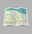 abstract location city map vector image vector image