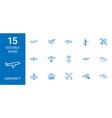 aircraft icons vector image vector image