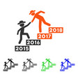 annual gentlemen stairs help flat icon vector image vector image