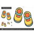 baby shoes line icon vector image vector image