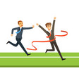 business people competition two businessman vector image vector image