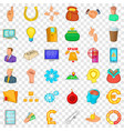call button icons set cartoon style vector image vector image