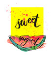 card with inscription sweet vector image