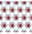 christmas covid19 seamless pattern virus vector image vector image