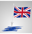 color united kingdom flag european union flag vector image