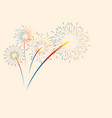 colorful color fireworks new year holidays vector image vector image