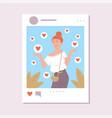 concept social media influencer a flat vector image vector image