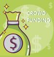 crowdfunding money business vector image