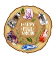 Crystals and stones full moon altar vector image vector image