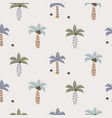 cute coconut palm trees seamless pattern print for vector image vector image