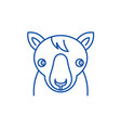 cute horse line icon concept cute horse flat vector image vector image