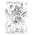 dancing lord shiva indian vector image vector image