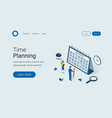 deadline time planning isometric concept vector image vector image