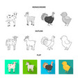 design of breeding and kitchen sign vector image