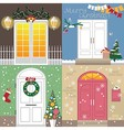 doors to Christmas holiday vector image vector image
