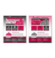 easy customizable magenta and dark grey website vector image vector image