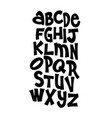hand lettering font alphabet vector image vector image