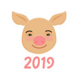 happy chinese new year of pig cute funny piggy vector image vector image