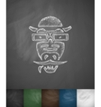 hipster crocodile icon Hand drawn vector image vector image