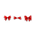 holiday satin gift bow knot ribbon red vector image