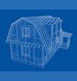 house sketch rendering 3d vector image
