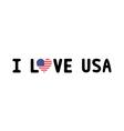I LOVE USA2 vector image vector image