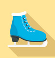 ice skate icon flat style vector image