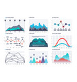 infographic chart statistics bar graphs economic vector image vector image
