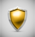 Isolated shield vector image vector image
