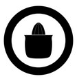 juicer squeezer black icon in circle isolated vector image vector image