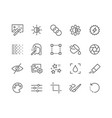 line photo editing icons vector image