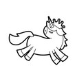 lovely unicorn crown animal horned fantasy vector image vector image