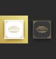 luxury logo crest template design vector image vector image